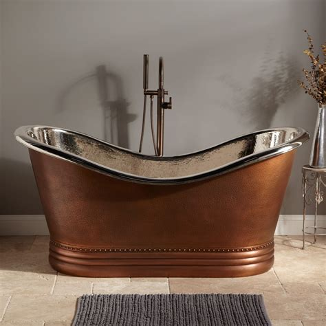 Slipper Tubs For Sale by Hammered Copper Slipper Tub Nickel Interior