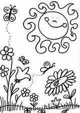 Coloring Spring Pages Printable Animal Print Summer sketch template