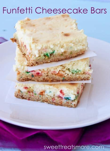 funfetti cheesecake bars guest post  recipe critic