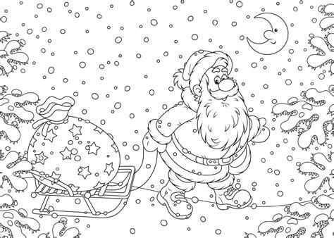 Kerstman Rendier Kleurplaat by Kleurplaat Kerstman 33 Allermooiste Kerstman Kleurplaten