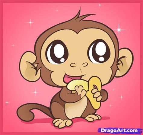 draw  easy monkey step  step forest animals