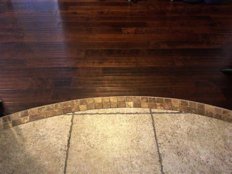 hardwood tile transition house ideas