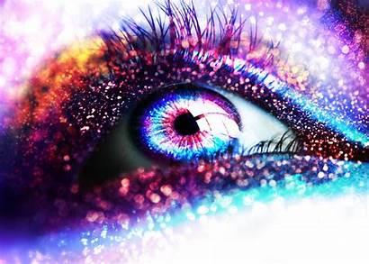 Glitter Force Sparkle Dark Eyes Abstract Eye