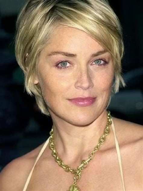 sharon stone cute short hair cuts for women with square