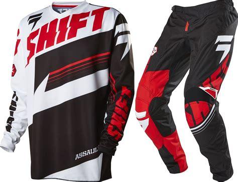 motocross gear for youth new shift youth mx gear assault black white motocross kids