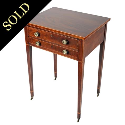 2 drawer end table antique side table georgian two drawer side table