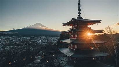 Architecture Pagoda Japan 1080p Background Sunlight Fhd