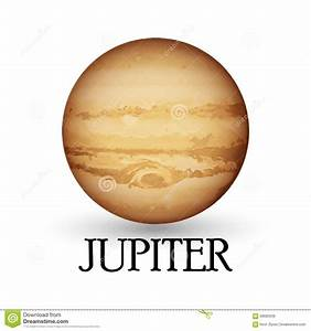 Planet Jupiter With Background Stock Vector - Image: 58685509