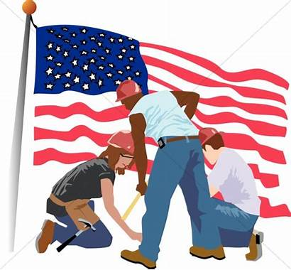 Labor Clipart Worker Patriotic Workers Construction Cleanup