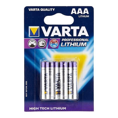 Varta AAA Lithium Batteries  4 Pack IN 4410430