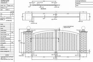 sliding gate design joy studio design gallery best design With driveway gate plan view diagrams drawings electric gate layouts