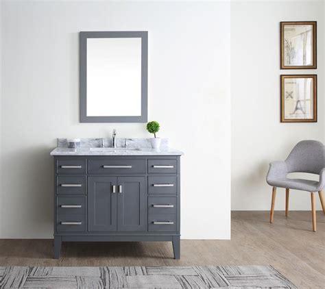 "Danny 42"" Bathroom Vanity Maple Grey  Ari Kitchen & Bath"