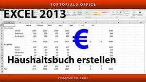 Haushaltsbuch Erstellen  Excel