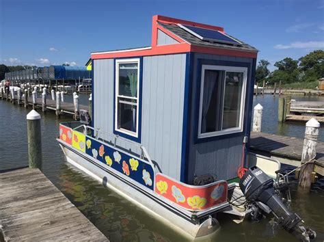 Small Pontoon Boats For Sale In Virginia by The Otter House A Tiny House Boat In Virginia
