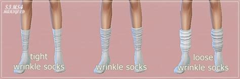 Wrinkle socks 3 versions at Marigold » Sims 4 Updates