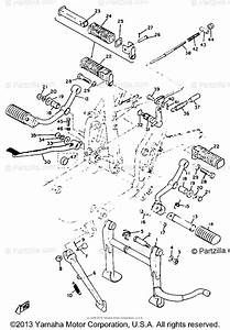 Yamaha Motorcycle 1972 Oem Parts Diagram For Stand