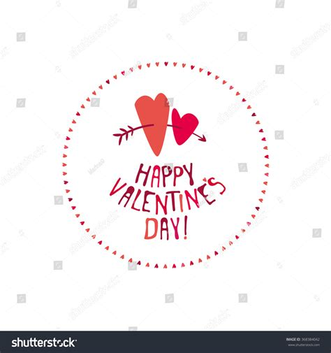 valentines day lettering greeting card vector stock vector