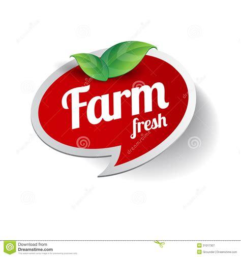 farm fresh label royalty  stock photography image