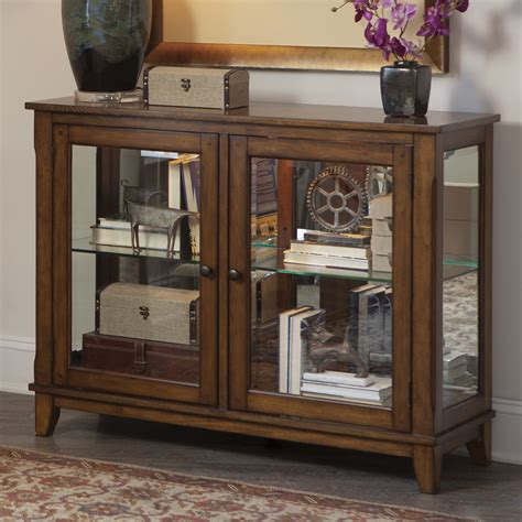 Furniture Curio Cabinet by Liberty Furniture Hearthstone Console Curio Cabinet