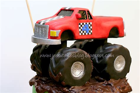 monster truck  completed cake part    jessica