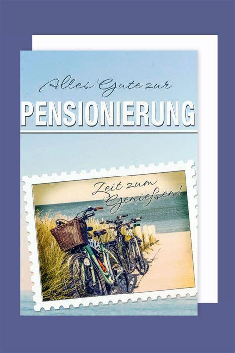 ruhestand karte grusskarte pensionierung fahrradtour