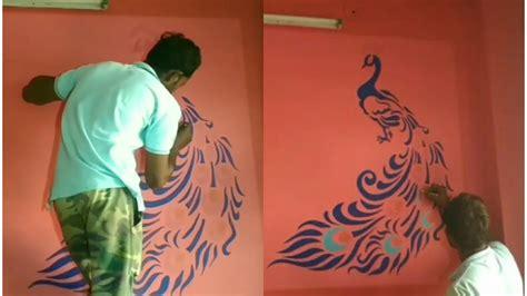 stencil peacock  royale play texture wallpaper wall