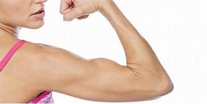 Arm Flexing Woman Muscle Vegan Protein Favorite