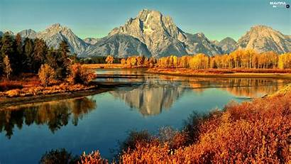 Autumn Mountains River Forest Views Wallpapers Fall