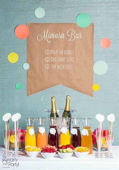 mimosa bar bridal shower setting up a mimosa bar bridal showers bar and events