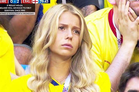 England Vs Sweden Sad Swede Girls Go Viral After World