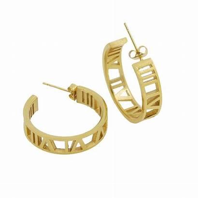 Roman Earrings Jewelry Stud Brand Luxury Numeral