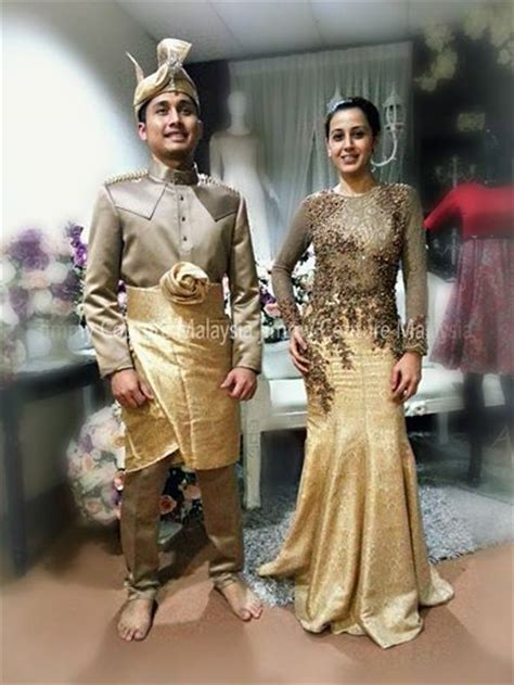 songket brown gold white wedding ideas traditional