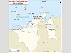 Brunei Mineral Map Natural Resources of Brunei
