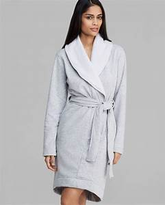 lyst ugg uggr australia robe blanche shawl collar in gray With zapa robe blanche