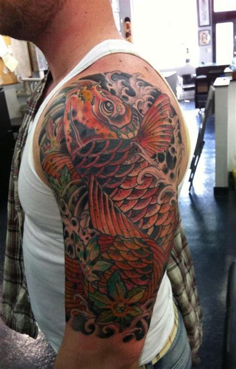 disenos de tatuajes de peces koi  sus significados