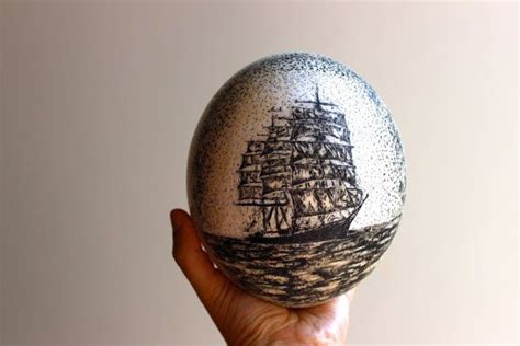 77 Best Scrimshaw Ostrich Eggs By Leviathan Bell Images On