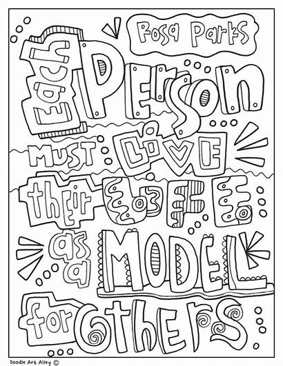 Parks Rosa Coloring Sheet Classroom History Quotes