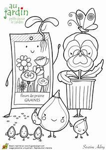 Jardin Dessin Couleur : coloriage jardinage pr ts pour le jardin ~ Melissatoandfro.com Idées de Décoration