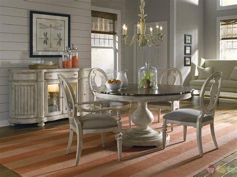 belmar luxury coastal whitewash finish  oval dining