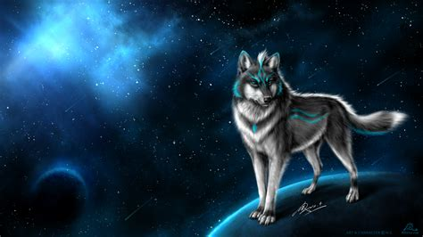 Blue Cool Wolf Wallpaper by Wolf Hd Wallpaper Background Image 1920x1080 Id