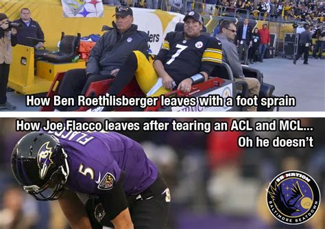 Joe Flacco Memes - joe flacco is tougher than ben roethlisberger baltimore beatdown