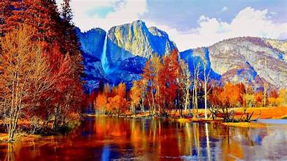 Yosemite National Park Autumn Fall Mountain Background