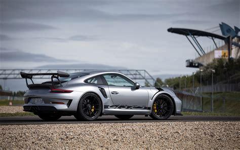 Download Wallpapers Porsche 911 Gt3 Rs, 2018, Silver