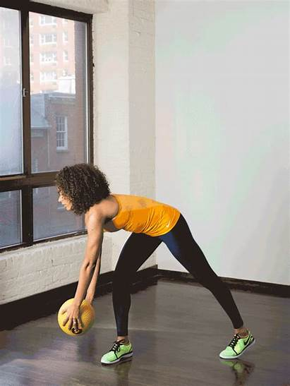 Standing Reverse Chop Exercises Abs Workout Ball