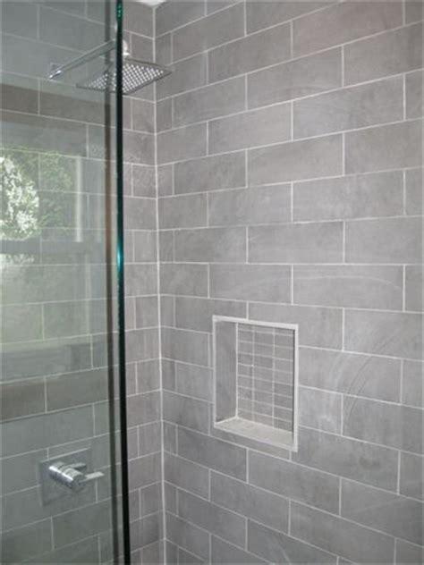 grey bathroom tiles ideas gray shower tile with moen shower faucet http
