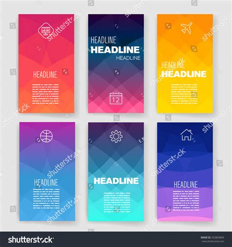 design template templates design set web mail brochures stock vector 252860899