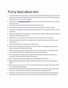 Fun facts about men