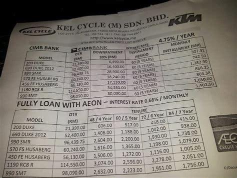 motomalaya ktm motorcycle price list  malaysia