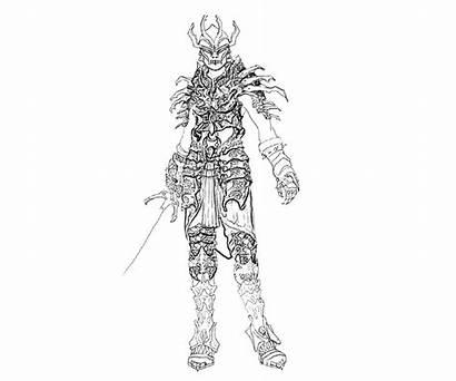 Skyrim Coloring Armor Daedric Colouring Sketchite
