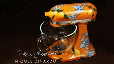 artist  custom paint  stand mixer